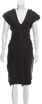 Fendi Virgin Wool Midi Dress