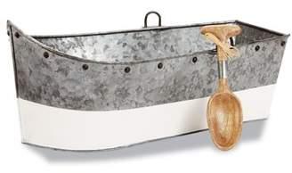 Mud Pie Boat Shaped Galvanized Tin Beverage Tub