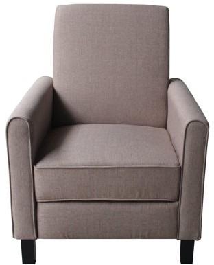 US Pride Furniture Eli Recliner Chair Linen Fabric, Brown, C-115