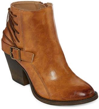 POP Womens Lubbock Dress Boots Stacked Heel Buckle