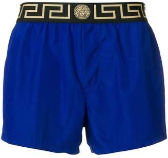 Versace Grecca waistband swim shorts