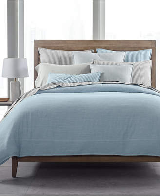 Hotel Collection Closeout! 525-Thread Count Yarn Dyed Full/Queen Duvet Cover, Created for Macy's Bedding