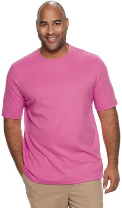 Croft & Barrow Big & Tall Classic-Fit Extra Soft Interlock Pocket Crewneck Tee