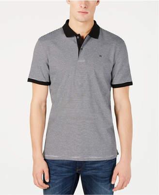 Calvin Klein Men Liquid Touch Micro Stripe Polo Shirt