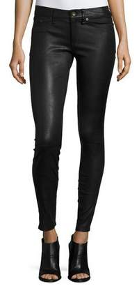 Rag & Bone Skinny Leather Ankle Pants, Black