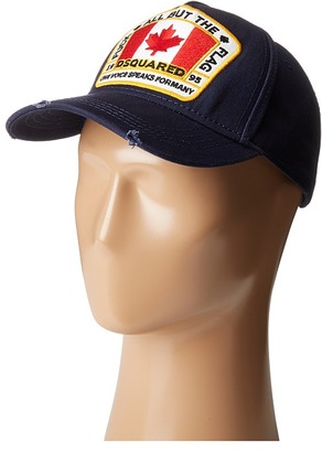 DSQUARED2 - All But the Flag Baseball Cap Baseball Caps $130 thestylecure.com