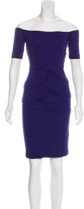 Nicole Miller Ruffle-Accented Mini Dress w/ Tags