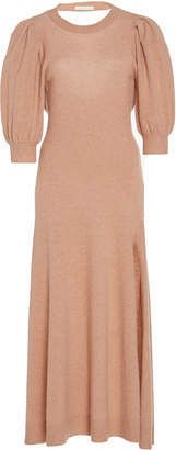 Jonathan Simkhai Drape-Back Cashmere Dress