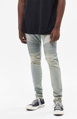 PacSun Stacked Skinny Moto Light Tint Jeans