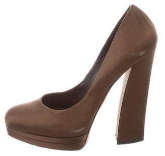 Casadei Satin Platform Pumps