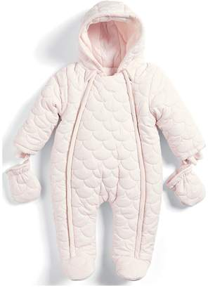 Mamas and Papas Baby Girls Pink Quilted Pramsuit