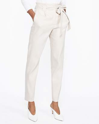 bee415c5ac Express High Waisted Linen-Blend Sash Tie Ankle Pant