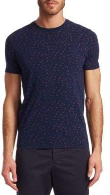 Saks Fifth Avenue MODERN Printed Dot Crewneck Tee