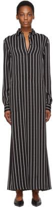Haider Ackermann Black and White Stripe Morganite Dress