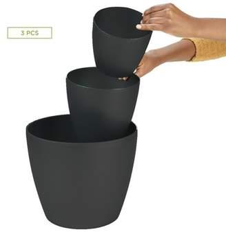 """Mind Reader 3 pc Office Set Bin Set - Desktop, Bath, & Floor trash Bin Set, Black - 6"""",8"""",12"""""""