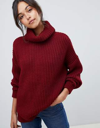 Asos Design DESIGN oversized roll neck jumper