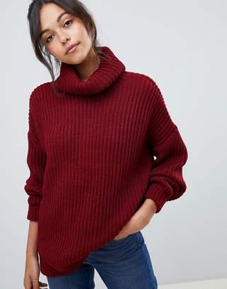 Asos DESIGN oversized roll neck sweater