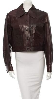 John Galliano Cropped Leather Jacket