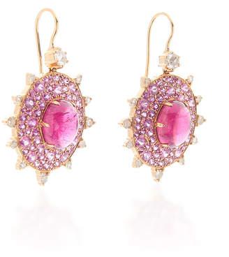 Nam Cho 18K Rose Gold Multi-Stone Earrings