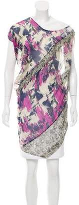 Gary Graham Semi-Sheer Abstract Print Silk Tunic w/ Tags