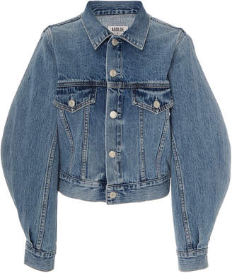A Gold E Agolde Alik Cropped Denim Jacket