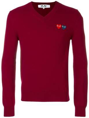 Comme des Garcons heart logo knitted jumper