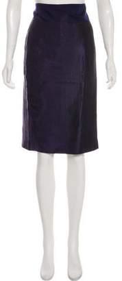Salvatore Ferragamo Lace-Trimmed Silk Skirt