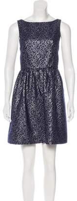 Alice + Olivia Metallic Patterned Dress