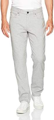 Agave Men's Coco Melange Twill Classic Fit Straight Leg Zip Fly 5 Pocket