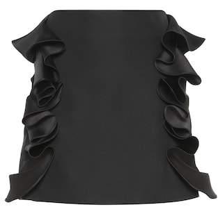 Victoria Beckham Victoria Ruffled cotton-blend miniskirt