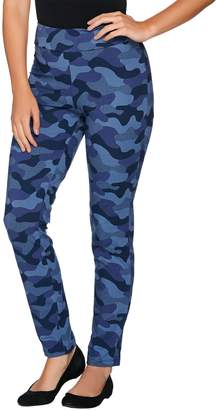 Women With Control Women with Control Regular Camo Printed Slim Leg Pants