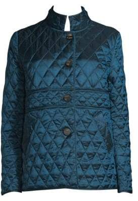 Jane Post Quilted Button-Front Jacket
