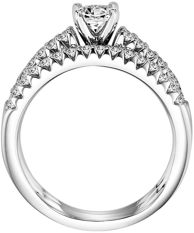 Cherish Always Round-Cut Diamond Engagement Ring Set in 14k White Gold (1 ct. T.W.) 3