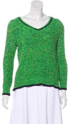 Halston V-Neck Knit Sweater