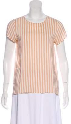 Cuyana Striped Short Sleeve Blouse