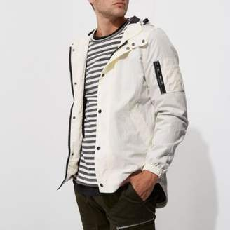 River Island White hooded lightweight jacket