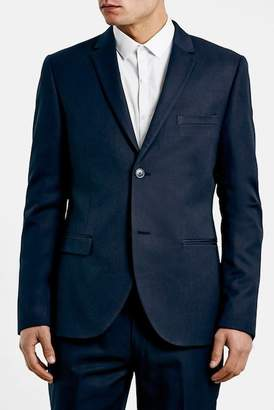 Topman Navy Skinny Fit Suit Jacket