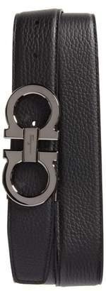 Salvatore Ferragamo Double Gancio Leather Belt