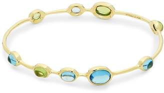 Ippolita Women's Rock Candy Blue Topaz, Peridot and 18K Gold Bangle Bracelet