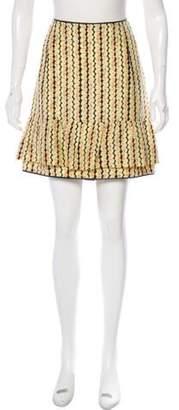 Marni Silk Mini Skirt Yellow Silk Mini Skirt