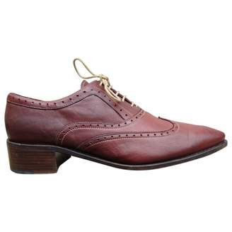 Paraboot Red Leather Lace ups