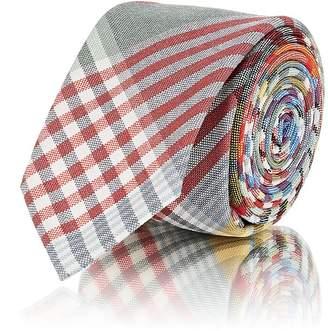 Thom Browne Men's Plaid Lightweight Wool Necktie