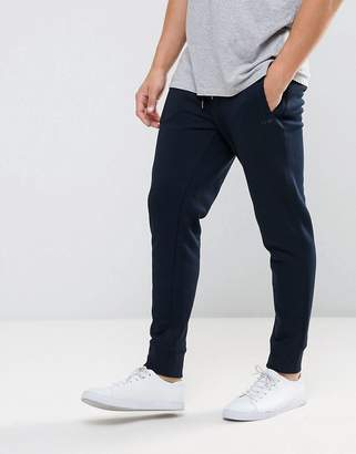 Armani Jeans Cuffed Logo Sweat Joggers Navy
