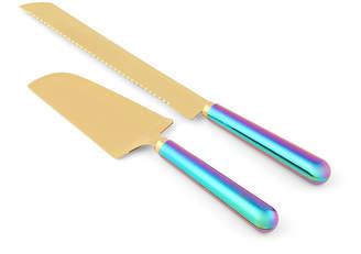 Thirstystone Closeout! 2 Piece Rainbow Iridescent Cake Knife and Server