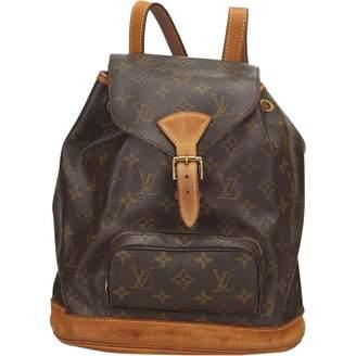 Louis Vuitton Vintage Montsouris Brown Cloth Backpacks e71e3d5ea753a