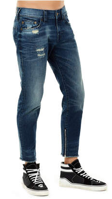 True Religion FINN FRAYED SKINNY MENS JEAN