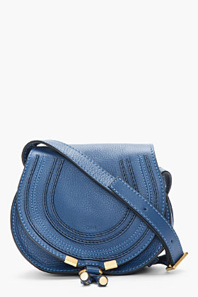 Chloé Small Navy Round Marcie Shoulder BAg