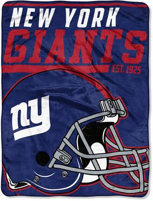 "Northwest Company New York Giants Micro Raschel 46x60 ""40 Yard Dash"" Blanket"