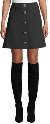 Kate Spade Jewel Button Crepe Mini Skirt