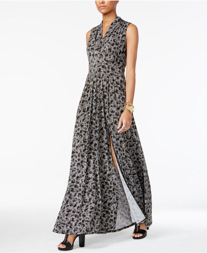MICHAEL Michael Kors Petite Printed Maxi Dress